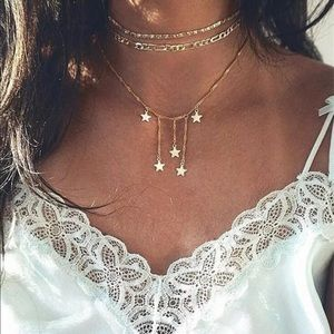 3 layer stary necklace